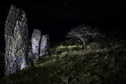 Standing Stones Prints - Three standing stones Print by Dirk Ercken