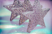 Weihnachten Prints - Three Stars Print by Sabine Jacobs