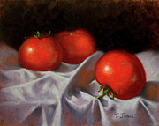 Tomato Paintings - Three Tomatoes by Timothy Jones
