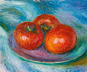 Famous Artists - Three Tomatoes by William Glackens
