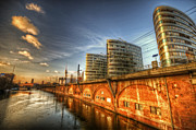 White River Scene Digital Art Framed Prints - Three towers Berlin Framed Print by Nathan Wright
