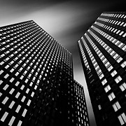 Black And White Photography Acrylic Prints - Three Towers Acrylic Print by David Bowman