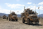Logar Prints - Three U.s. Army Mine Resistant Ambush Print by Stocktrek Images