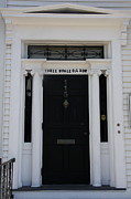 Entrance Door Art - Three Whale Oil Row - Black Door - New London by Christiane Schulze