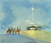 Star Of Bethlehem Painting Prints - Three Wise Men Print by David Cooke