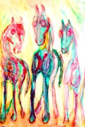 Tricks Mixed Media Prints - Three Wise Men Print by Hilde Widerberg