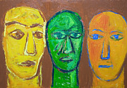 Primitive Raw Art Paintings - Three Wise Men by Kazuya Akimoto