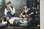 Patricia Hofmeester - Three women in 1908 playing music in oriental style