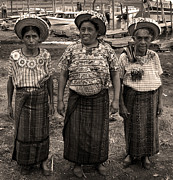 Pre War Framed Prints - Three women in Atitlan Framed Print by RicardMN Photography