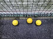 Netting Photos - Three Yellow Balls by Patricia Januszkiewicz