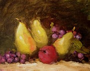 R W Goetting - Three yellow pears