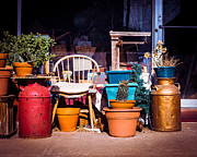 Small Town Life Art - Thriftie Junk by Sonja Quintero