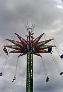 Local Fairs Prints - Thrill Tower Print by Skip Willits