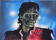 Michael Jackson Mixed Media Framed Prints - Thriller Framed Print by Jacob Logan