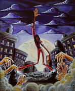 African-american Paintings - Thriller V3 by Tu-Kwon Thomas