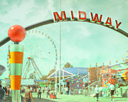 State Fair Photo Prints - Thrills of the Midway Print by David and Carol Kelly