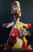 Paper Mache Sculptures - Thriving in Colors I by Francine Frank