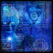 Indigo Chakra Prints - Throat Chakra Print by Mark Preston