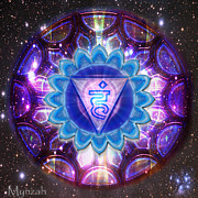 Throat Chakra Framed Prints - Throat Chakra Vishuddha  Framed Print by Mynzah Osiris