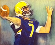 Quarterback Pastels Prints - Through my fathers eyes Print by Andrea Inostroza