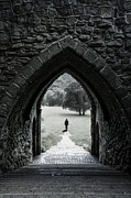 Castle Steps Framed Prints - Through the Arch Framed Print by Svetlana Sewell