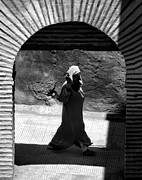 Hijab Framed Prints - Through the archway.. Framed Print by A Rey