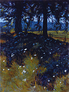 Cedars Paintings - Through The Cedars by Betsee  Talavera