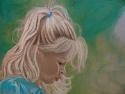 Prismacolor Colored Pencil Drawings Prints - Through the Eyes of a Child Print by Kathryn Kerekes