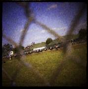 Infield Digital Art - Through the Fence Water Color by David Lange