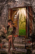 Bright Color Posters - Through The Forest Door Poster by Erik Brede