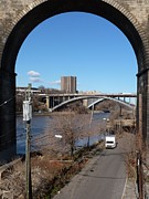 Harlem River Digital Art - Through the Highbridge by Steve Breslow