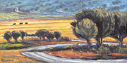 Impressionistic Landscape Paintings - Through the Junipers by Gina Grundemann