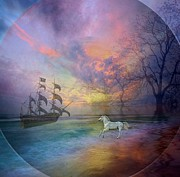 Photo Manipulation Painting Metal Prints - Through The Lense of Past Metal Print by Jessie Art