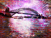 Harbour Mixed Media Prints - Through the Wall 1 Print by Leanne Seymour