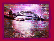 Harbour Mixed Media Prints - Through the Wall 2 Print by Leanne Seymour