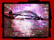 Harbour Mixed Media Prints - Through the Wall 3 Print by Leanne Seymour