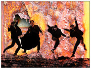 Beatles Mixed Media - Through the Wall by Michael Knight
