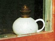Oil Lamp Metal Prints - Through the Window Metal Print by Robert Ball