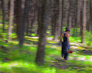 Impressionism Photos - Through The Woods 2 by Theresa Tahara