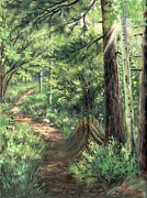 Trail In Spring Print by Asa Gochenour