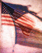 American Flag Photo Prints - Through War and Peace Print by Bob Orsillo
