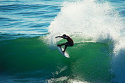 Santa Cruz Surfing Metal Prints - Throwing Light Metal Print by Paul Topp