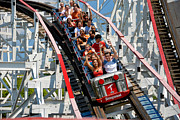 Danger Prints - Thuderbolt Roller Coaster Kennywood Park Print by Amy Cicconi