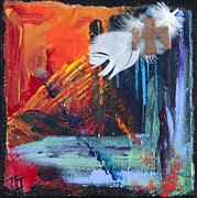 Thunder Bird Abstract Print by Tracy L Teeter