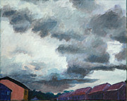 Storm Clouds Paintings - Thunder by David Carson Taylor