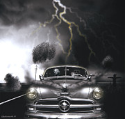 Chrome Skull Prints - Thunder Road Print by Larry Butterworth