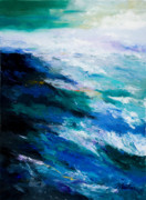 Seascape Painting Prints - Thunder Tide Print by Larry Martin