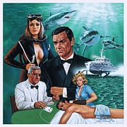 James Bond Paintings - Thunderball by Dick Bobnick