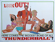 James Bond Film Framed Prints - Thunderball Framed Print by Nomad Art And  Design