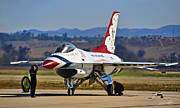 Usaf Framed Prints - Thunderbird on the Ramp Framed Print by Dale Jackson